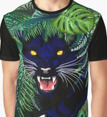 Black Panther Spirit coming out from the Jungle Graphic T-Shirt