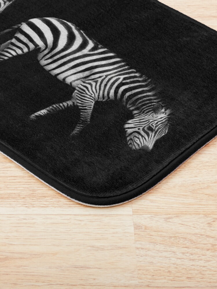 Alternate view of Double Zebra Drama Bath Mat