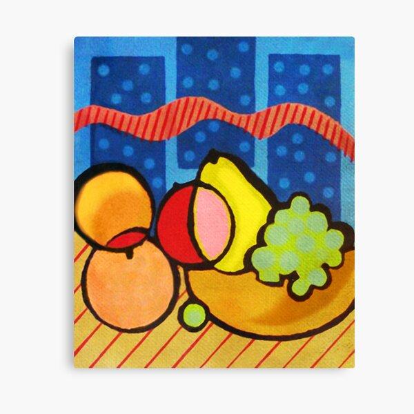 Colorful Pop-Art Fruit Basket Fine Art Print for home decor  Canvas Print