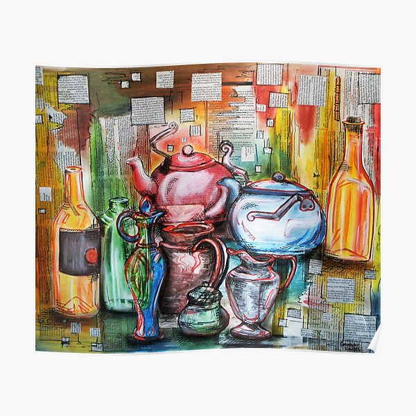 Colorful Kitchen Jars fine art print  Poster