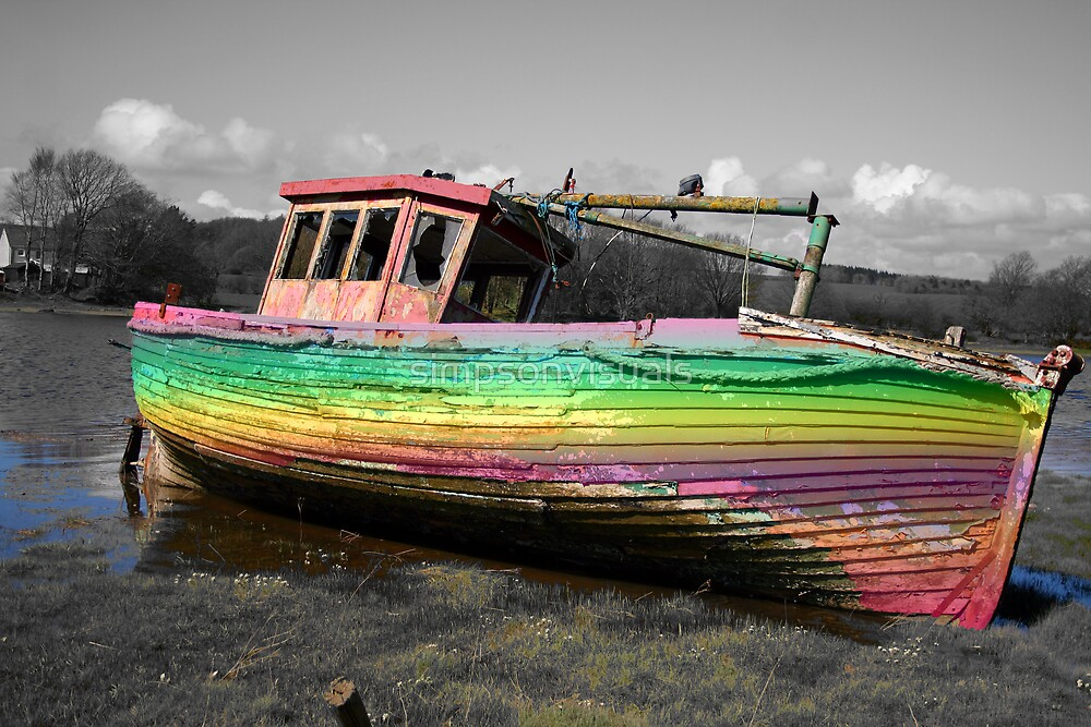The Old Fishing Boat - Kirkcudbright Scotland by simpsonvisuals