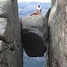 On the rock by Annbjørg  Næss