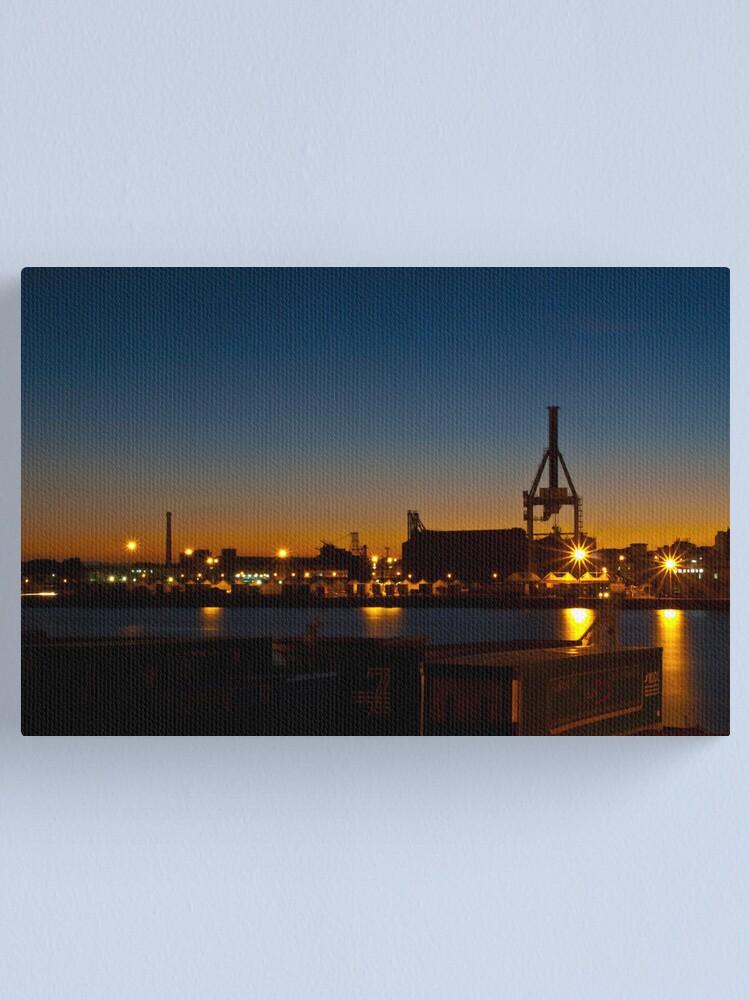 Alternate view of Luci serali al porto  Canvas Print