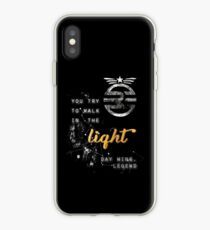 You try to walk in the light iPhone Case