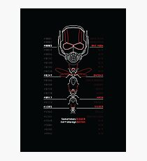 Ant-Man Team Roster Design Photographic Print