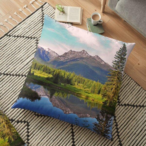 Montana Cabinet Mountains Floor Pillow