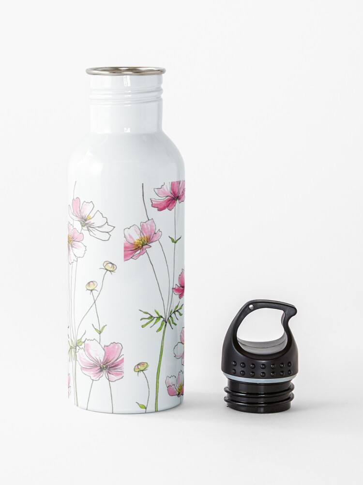 Alternate view of Pink Cosmos Flowers Water Bottle