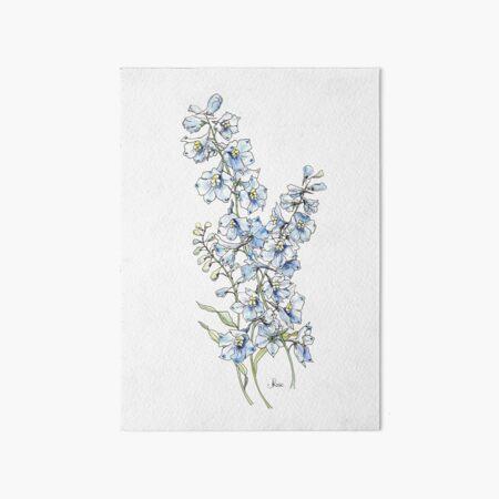 Blue Delphinium Flowers Art Board Print