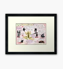 dissecting humour Framed Print