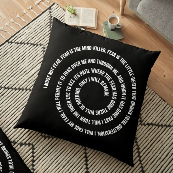 Litany Against Fear Floor Pillow