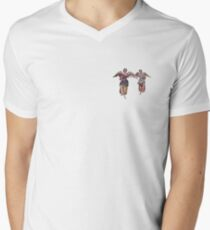 2 little angels to watch over you Men's V-Neck T-Shirt