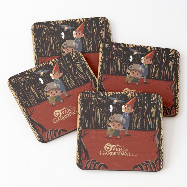 Retro 30s Over the Garden Wall ™ Coasters (Set of 4)