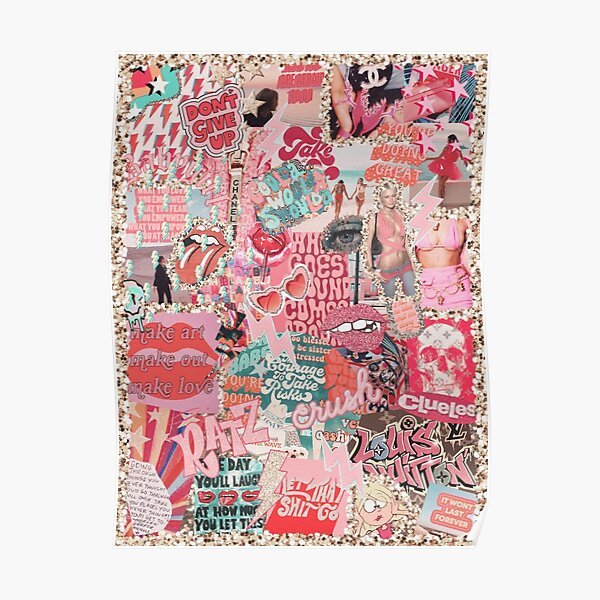 PINK VIBEZ COLLAGE Poster