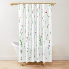 Plant Kisses During The Day Shower Curtain