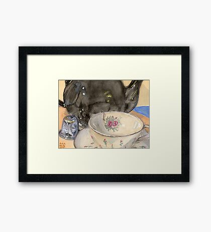 Tea Bell and Cup Framed Print