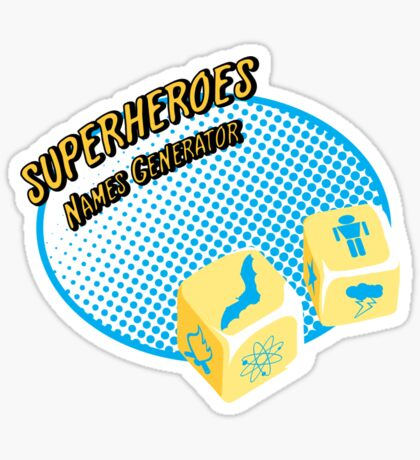 Superheroes name-generator Sticker