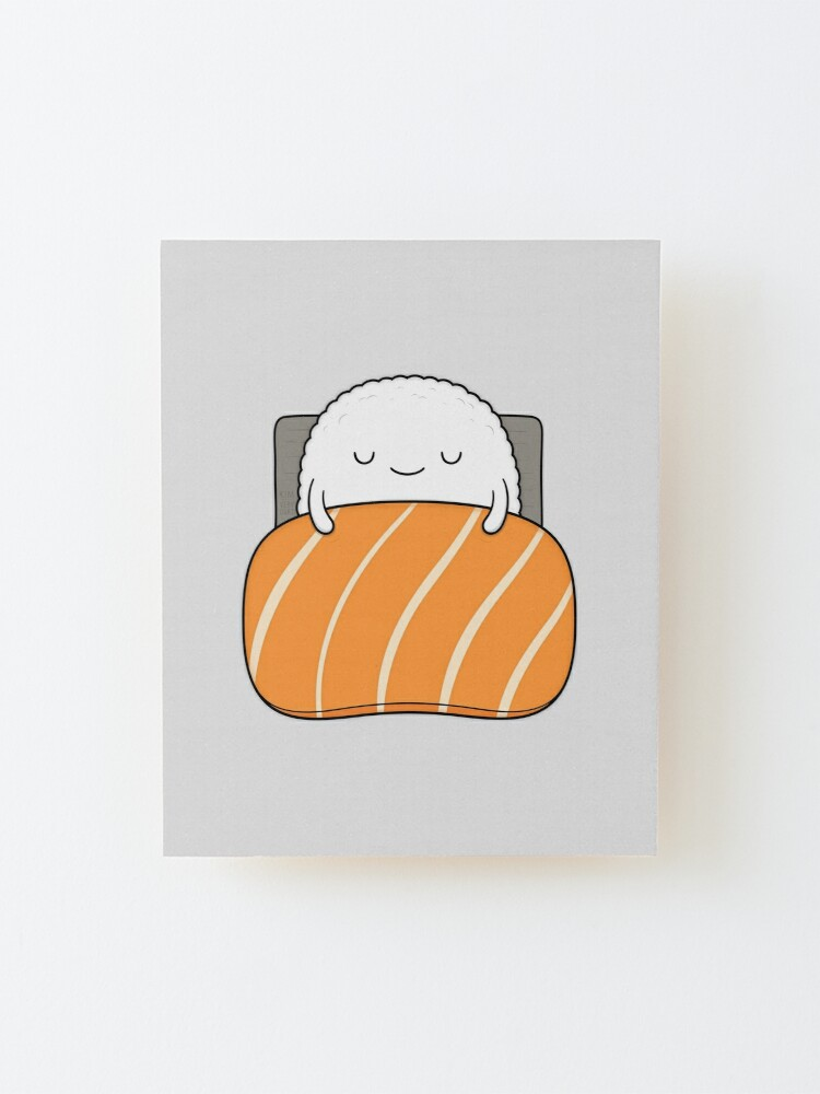 Alternate view of Sleepy Sushi Bed Mounted Print