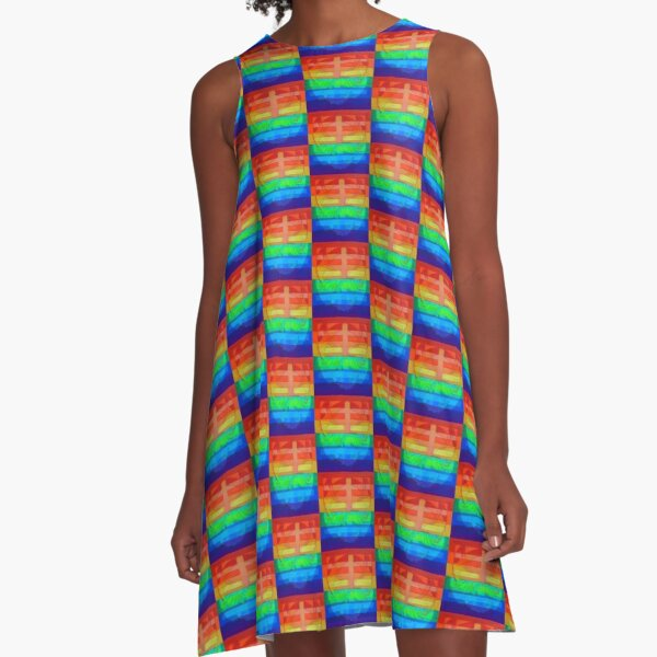 Hexagram 11: T'ai (Peace) A-Line Dress