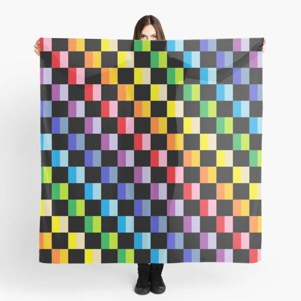Checkered Broader Spectrum Rainbow Black  Scarf
