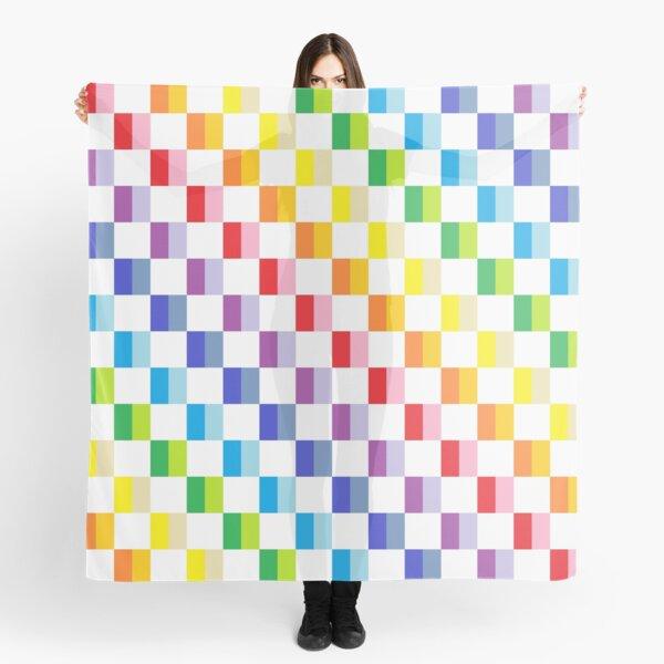 Checkered Broader Spectrum Rainbow Scarf
