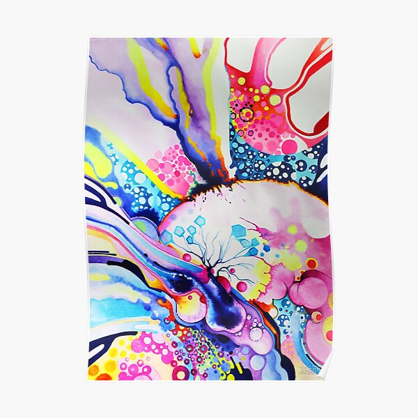 Infinite Flare - Watercolor Painting Poster