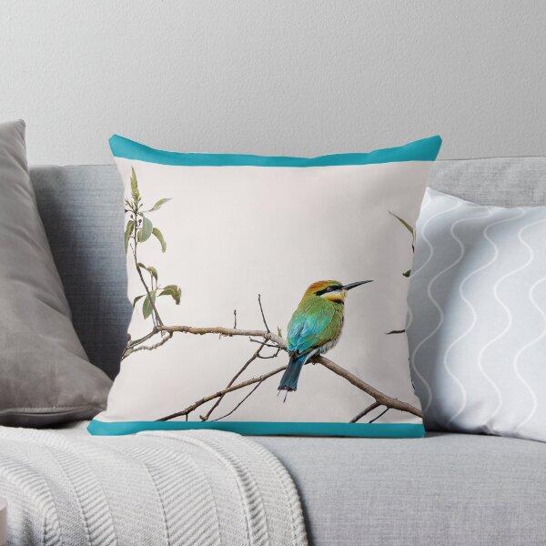 Rainbow bee-eater 'Simply Beautiful' Throw Pillow