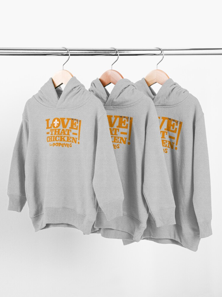 Alternate view of Love That Chicken from Popeyes Toddler Pullover Hoodie