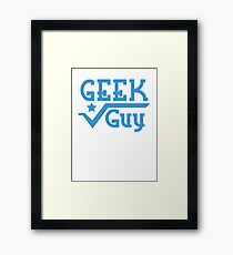 Geek Guy cute nerdy geek design for men Framed Print
