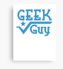 Geek Guy cute nerdy geek design for men Canvas Print