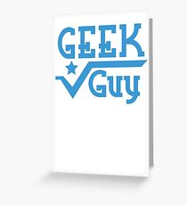 Geek Guy cute nerdy geek design for men Greeting Card