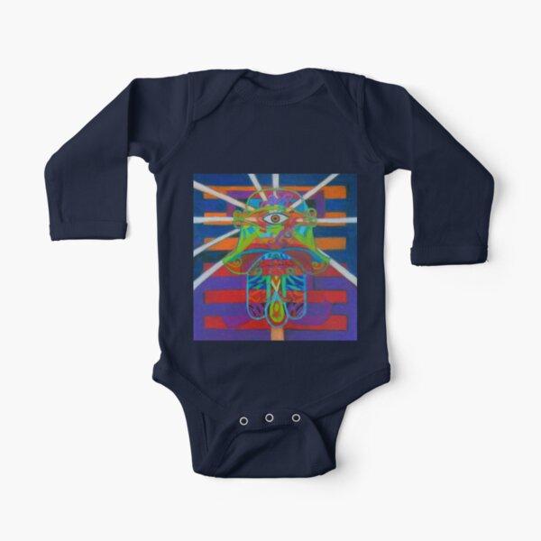 Hexagram 14-Ta Yu (Wealth) Long Sleeve Baby One-Piece