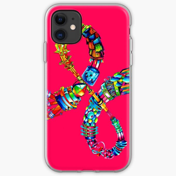 Everything Fits Together - Illustration - Color it Yourself! iPhone Soft Case