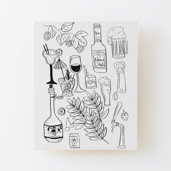 Alcohol Doodles Wood Mounted Print