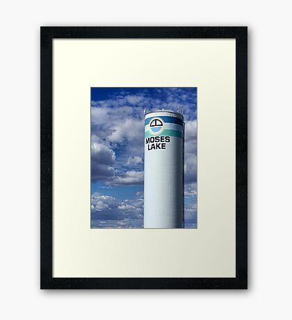 Water Tower (Moses Lake, Washington, USA) Framed Print