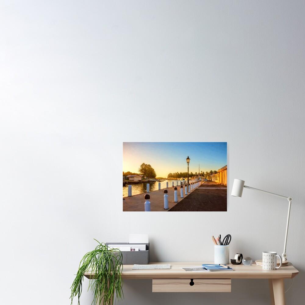 Port Fairy Sunrise  (digital painting) Poster
