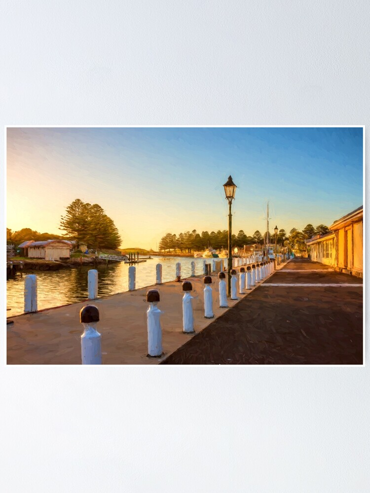Alternate view of Port Fairy Sunrise  (digital painting) Poster
