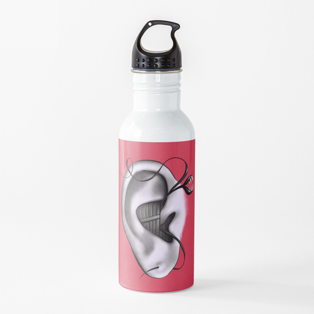 Ear Monster Weird Art Water Bottle