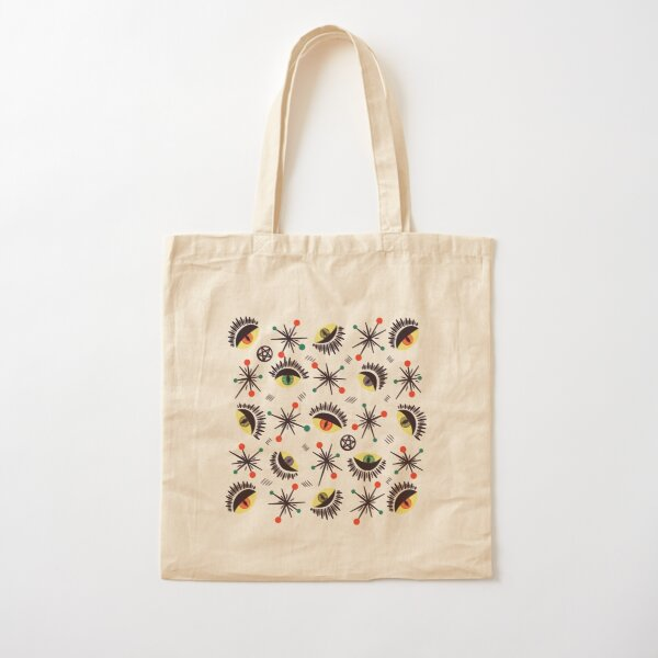Reptile witch eyes retro pattern  Cotton Tote Bag