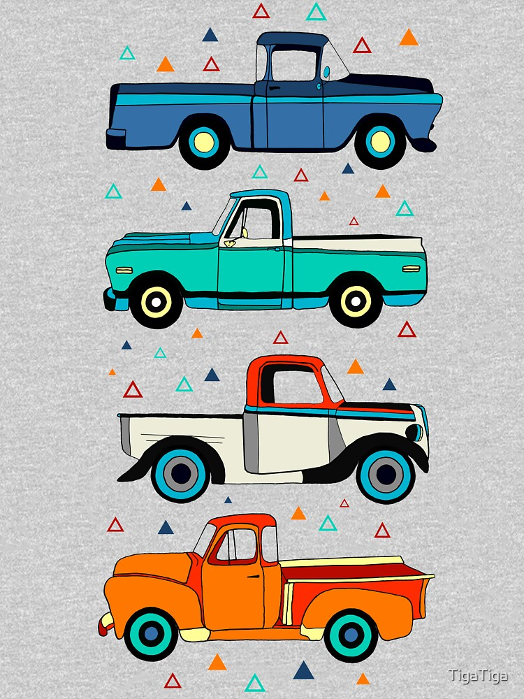 Bright Vintage Trucks  by TigaTiga