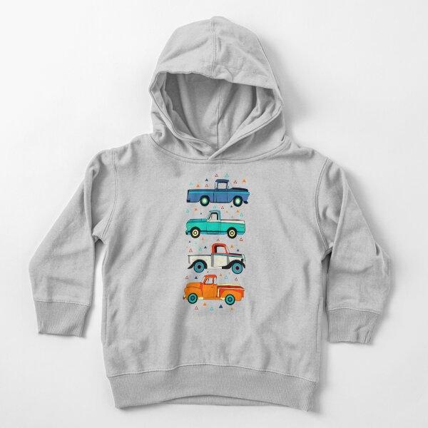 Bright Vintage Trucks  Toddler Pullover Hoodie