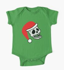 ha ha ha smiling skull SANTA for Christmas Kids Clothes