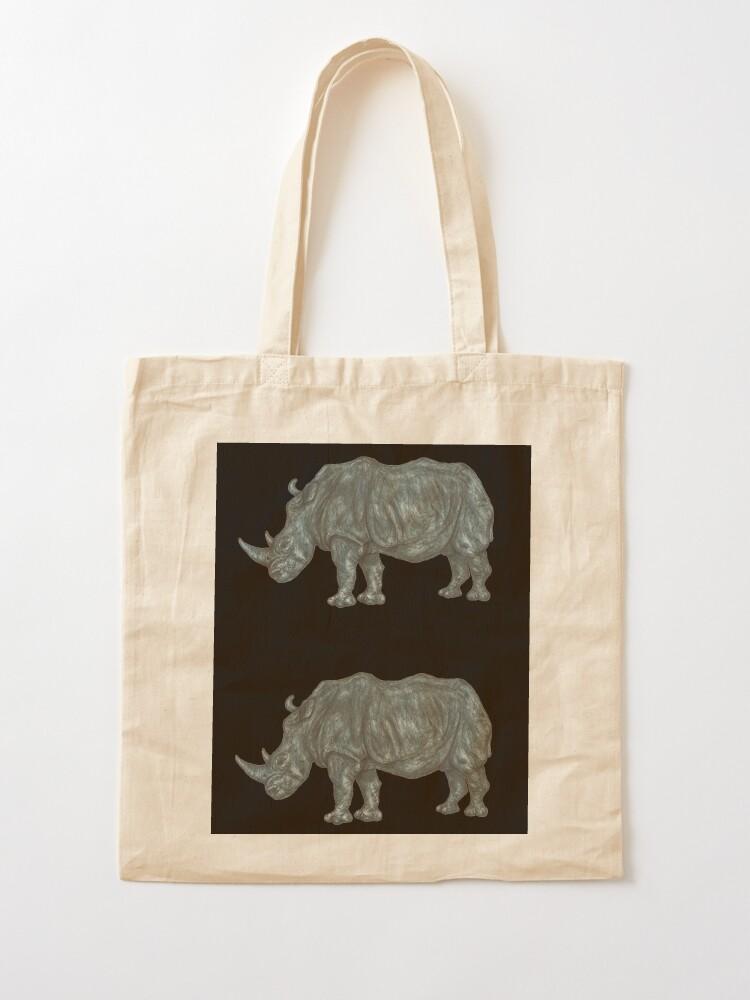 Cotton Bag Rhino-black