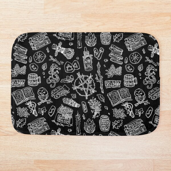 Black witch - Dark pagan witches druids essential gothic goth Bath Mat