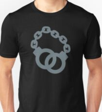 Handcuffs in grey T-Shirt