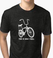 This Is How I Roll - Retro Bicycle Tri-blend T-Shirt