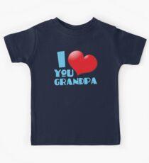 I LOVE YOU Grandpa Kids Tee