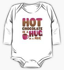 HOT CHOCOLATE IS A HUG in a mug One Piece - Long Sleeve
