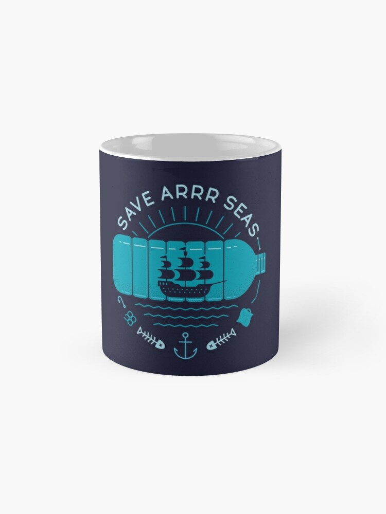 Alternate view of Save Arrr Seas Mug