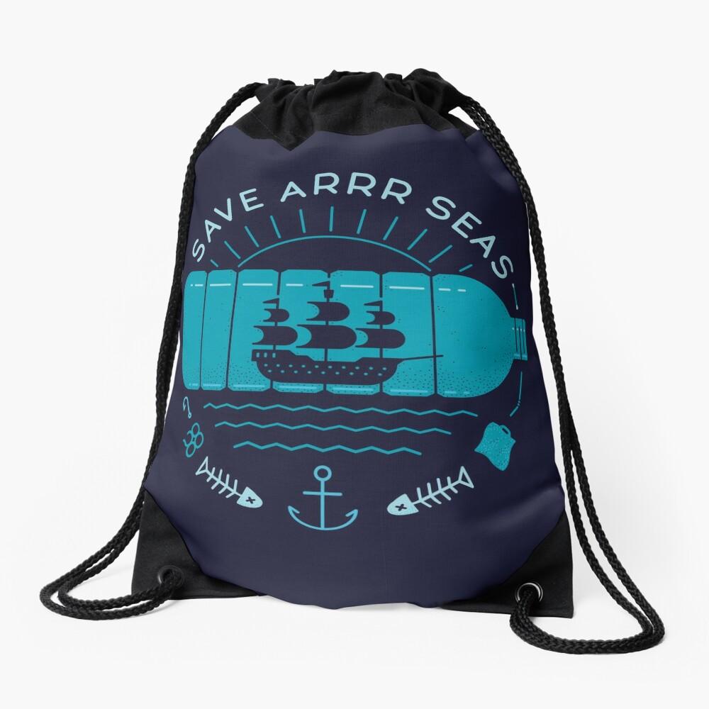Save Arrr Seas Drawstring Bag