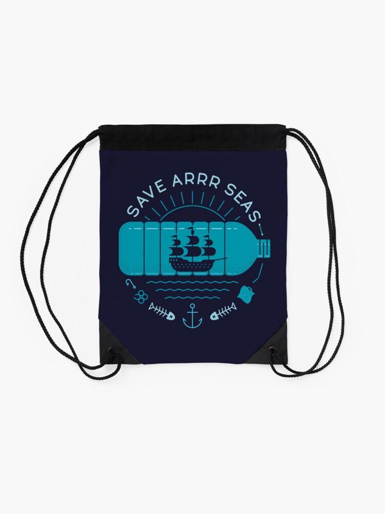 Alternate view of Save Arrr Seas Drawstring Bag
